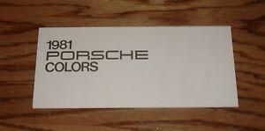 Original 1981 Porsche Exterior Colors Foldout Sales Brochure 81 911SC 928 924