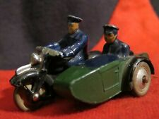 Vintage Dinky Toys Diecast Police Motorcycle Rider and Sidecar 1950s Rare