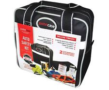 Auto Safety Kit Deluxe Travel- Just in Case-Open Box -See Details