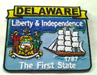 DELAWARE STATE MAP (3-1/2') Biker Patch PM6708 EE