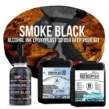 Epoxidharz EpoxyPlast 3D B50 SMOKE BLACK Transparent Farbig Gießharz Epoxy Resin