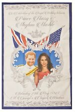 Royal Wedding Tea Towel May 2018 Prince Harry Meghan Markle Souvenir Gift Cotton