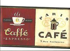 INTERNATIONAL COFFEE CUP WALLPAPER BORDER  EB8900B
