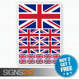 15 x Union Jack GB England Flag decals Car Van Bike Waterproof Stickers