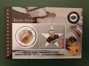 Canada - 2001 - Eddie Shore Laminated Stamp Card -  souvenir  - MNH