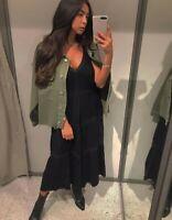 Zara Maxi Long Knit Lace Ruffle Dress Size M UK 10 12 Influencer Fave 2021
