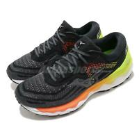 Mizuno Wave Sky 4 SW Super Wide Black Grey Orange Men Running Shoes J1GC2011-36