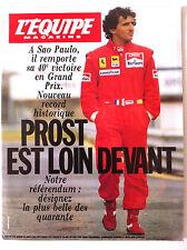 L'Equipe Magazine du 31/3/1990; Prost, 40e victoire/ Entretien Jan Raas/ les nul