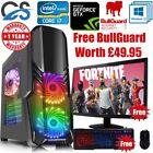 Fast Gaming Pc Computer Intel Core I7 16gb 1tb Windows 10 4gb Gtx1650 Bullguard