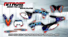 KTM EXC EXC-F 125 250 300 350 450 2012 2013 Graphics Kit Decal Design Stickers