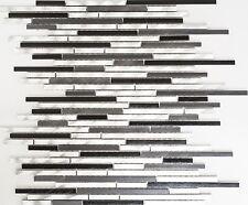 Mosaik Fliese Aluminium Verbund Alu alu grau schwarz WC | 49-0306_f | 10 Matten