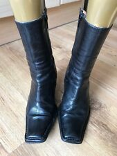 BERTIE BLACK LEATHER ANKLE BOOTS EU SIZE 36 will fit Size 4
