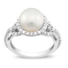 Cubic Zirconia Pearl Sterling Silver Fine Jewellery