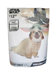 NEW Star Wars The Mandalorian THE CHILD - Baby Yoda Pet Puppy Dog Costume SMALL