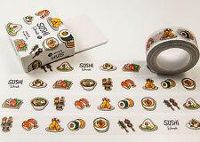 Masking Washi Tape Dekoband / Sushi / 10 m x 15 mm