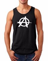 Tank Top Men Anarchy Shirt Reject Hierarchy Freedom Tee Leaderlessness Anarchism