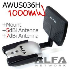 Alfa AWUS036H 1000mW +USB  Y Cable + APA M04 DIRECTIONAL ANTENNA