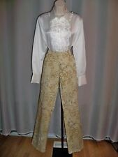 COMPANY ELLEN TRACY GOLD FLORAL PRINT FIVE POCKET STYLE CHIC PANTS 6 NWT $149