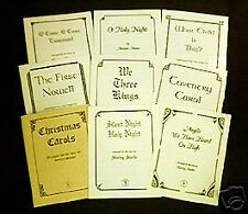 CHRISTMAS CAROLS for Harp and Voice, Music, 8-Piece set