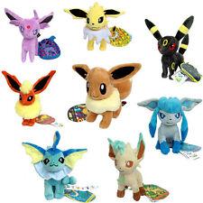 8X Pokemon Plush Toy Eevee Espeon Umbreon Vaporeon Jolteon Flareon Glaceon Etc
