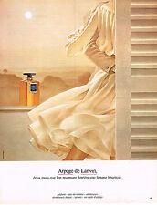 PUBLICITE  1974   LANVIN  parfum de la femme heureuse ARPEGE