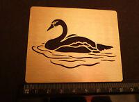 Brass/stencil/Oblong/Swan/Swimming/Embossing/emboss/NEW
