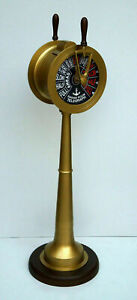 """Nautical brass ship engine room telegraph 55"""" collectible home office decor item"""