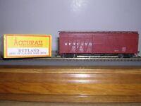ACCURAIL #4009  Rutland 40' O.B.Wood Box Car #7999 Built-up H.O. 1/87