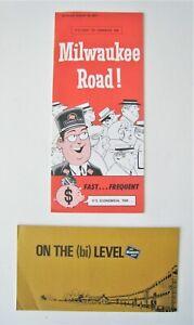 Lot of 2 Vintage 1970s Milwaukee Road Railroad Brochures
