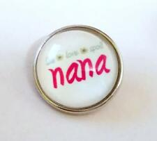 NANA LIVE LOVE SPOIL  Snap Button Charm*Changeable Jewelry like Ginger Snaps M51