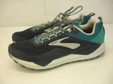 Brooks Cascadia 14 Men's 12 D M Trail Running Shoes Navy Blue Green 1103101D478