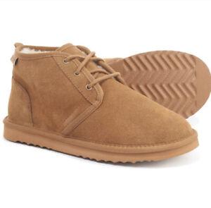 MINNETONKA Original Cozy Barry Boot Moccasin Slippers Cinnamon Men's Size 11