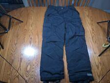 Pulse Mens Ski Snowboarding Snow Cargo Pants Black Size L