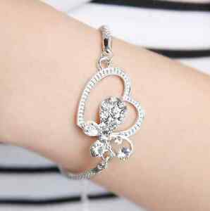charm heart and butterfly bracelet