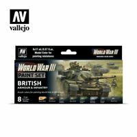 AV Vallejo Model Color Set - WWIII British Armour & Infantry VAL70222