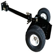 Two Wheel Sulky Lawn Mower Pneumatic Wheel Walk Behind Mower Powder Coated Black