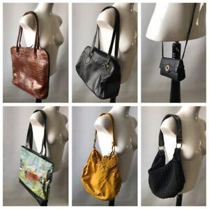 6 X Bundle Ladies Bags Shopping Monet Slouch Tote Saddle Mock Croc Bueno Auriell