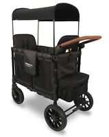 Wonderfold Wagon W2S 2.0 Premium Push 2 Seat Double Stroller Charcoal Black NEW