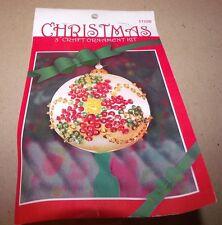 Design Works POINSETTIA Jeweled Satin Ball Ornament Kit