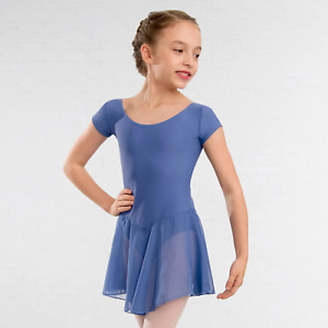 """1st Position """"Milly"""" Q16 Voile Skirted Cap Sleeved Leotard for Dance"""