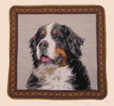"""Bernese Mountain Dog Needlepoint Pillow 10""""x10"""" Nwt"""