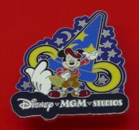 USED Disney MGM Studios Enamel Pin Badge Mickey Mouse Sorcerers Hat 2004