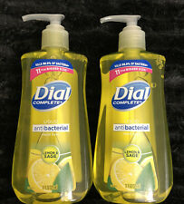 Lot Of 2 - DIAL COMPLETE Liquid Hand Soap LEMON & SAGE Scent 11 Oz. PRIORITY