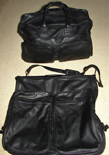 Vintage PICARD Genuine Leather Luggage Travel Set ❤ Duffel & Suit Garment Carry