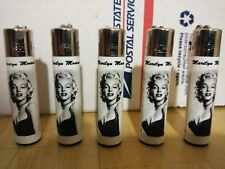 Marilyn Monroe CLIPPER Butane Lighters Refillable - lot of 5 pcs BRAND NEW