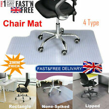 More details for 900x1200 frosted non-slip office chair desk mat floor carpet protector pvc clear