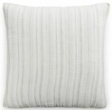 Hotel Collection Linen Fog Quilted 100% Cotton Striped Pillow Sham EURO Gray 877