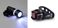 front 5 led & rear silicone lights set - bike light lamp red small mini black UK