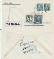 US 1946 PAA CLIPPER FIRST FLIGHT FLOWN COVER US TO EL SALVADOR TO US