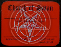 Classic Church of Satan Red Membership Card Personalized with Buyers Name LaVey